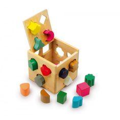 Juguete de madera con encajes Edad: a partir de 6 meses Indicaciones matemáticas: Trabajan la destreza motriz y la…