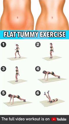 Tummy Exercise At Home, Flat Tummy Workout, Body Workout At Home, Fitness Workout For Women, Belly Fat Workout, Body Fitness, Video Fitness, Woman Workout, Male Fitness