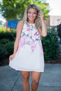 Garden Rain Dress, Pink