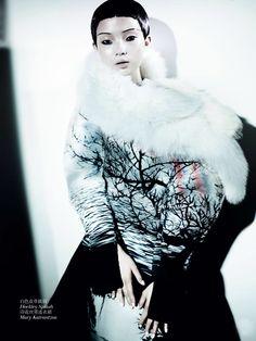 Xiao Wen Ju & Christopher Goh by Mario Testino for Vogue China December 2013 2