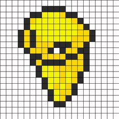 Kakuna Pokemon Sprite bead pattern