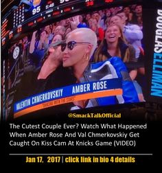 The Cutest Couple Ever? Watch What Happened When Amber Rose And Val Chmerkovskiy Get Caught On Kiss Cam At Knicks Game (VIDEO)