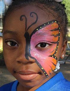 monarch face paint