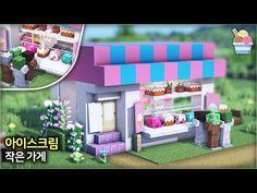Minecraft Shops, Minecraft Cottage, Cute Minecraft Houses, Minecraft House Tutorials, Minecraft City, Minecraft Plans, Minecraft House Designs, Minecraft Construction, Minecraft Tutorial