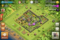 Epic lvl 8 town hall defence! Get clash of clans! It's awesome!