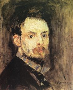 Pierre-Auguste Renoir, 1.875. Autorretrato a los 34 años. Óleo sobre lienzo, 40 x 31. Williamstown, Sterling and Francine Clark Art Institute.