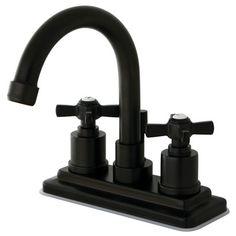 Kingston Brass Millennium Double Handle Centerset Bathroom Faucet & Reviews | Wayfair