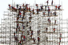 Construction workers at Dubai Festival City, 2010  (Photo: Gulf News)