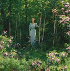 Charles Courtney Curran, The Edge of the Woods (1912)