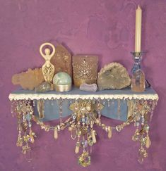 Winter Wonderland Wall Altar OOAK Pagan Decor by EarthStarStudios, $57.00