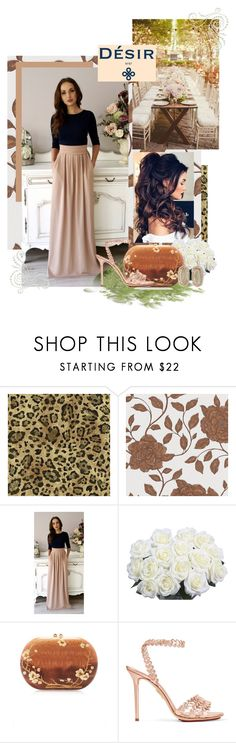 """""""Desirvale"""" by sierraday ❤ liked on Polyvore featuring York Wallcoverings, BD Fine Wallcoverings, Silvia Furmanovich, Charlotte Olympia, Kendra Scott, BridesMaid, wedding and plus size dresses"""