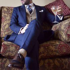 "mysuitandtiefixation: ""Details from my last photo shoot. blue tie with yellow #FLATLAY #FLATLAYAPP #FLATLAYS www.theflatlay.com"