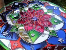 Espelho Mandala Flor