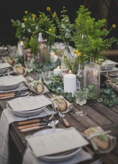 Wedding decoration for the perfect garden party. Table decoration in rustic . - Wedding decoration for the perfect garden party. Table decoration in rustic … – - Deco Table Champetre, Outdoor Dinner Parties, Outdoor Entertaining, Outdoor Party Decor, Deco Floral, Floral Design, Wedding Table Settings, Outdoor Table Settings, Place Settings
