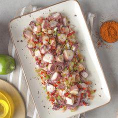 Octopus Recipes, Fish Recipes, Seafood Recipes, Mexican Food Recipes, Cooking Recipes, Cheesy Recipes, Easy Healthy Recipes, Baked Salmon Recipes, Tiny Food