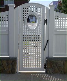 Cellular PVC Slim Lattice Gate | Entrance Gates Wood Gates and more from Walpole & http://www.prowellwoodworks.com/gate/2_1a_garden_gate.jpg | gates ... pezcame.com