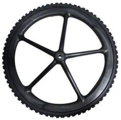 """RUBBERMAID COMMERCIAL PROD 20"""" WHL Barrow Wheel > This product is easy to use Non-pneumatic Replacement wheelbarrow wheel for big wheel Carts"""