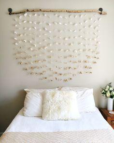 Room decor. DIY headboard