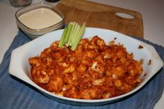 BBQ Cauliflower Wings from the Vegan Pact... these look A-mazing!!! #vegan