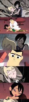 Jack and Ashi and Ilana and Lance (scenes compare) by Nikki1975