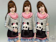 The Sims Resource: Panda Sweater Dress by lillka • Sims 4 Downloads
