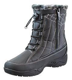 Totes Womens Barbara Snow Boot BLACK 8 * Find out more about the great product at the image link.