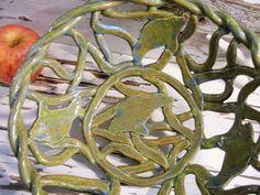 Manatee bowl basket rustic handmade ceramic yarn bowl
