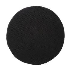 Soft Toggle Round Bath Mat - Black