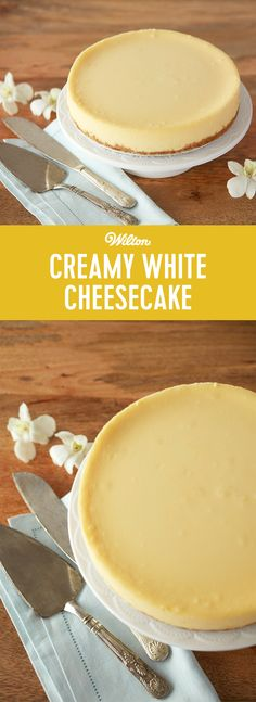 This easy homemade cheesecake recipe is the perfect sweet and decadent dessert. Try customizing your cheesecake with a variety of toppings, including cherry pie filling, whipped cream and sprinkles or even chocolate ganache. #wiltoncakes #cheesecake #recipes #candymelts #homemade #howto #ideas cheescakes #cakes #plaincheesecake