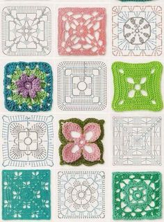 Transcendent Crochet a Solid Granny Square Ideas. Inconceivable Crochet a Solid Granny Square Ideas. Motifs Granny Square, Granny Square Crochet Pattern, Crochet Diagram, Crochet Chart, Crochet Squares, Crochet Granny, Crochet Blocks, Granny Squares, Crochet Flower
