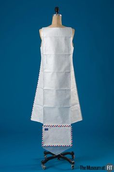Hussein Chalayan -- 1999 __ dress made from Tyvek envelopes