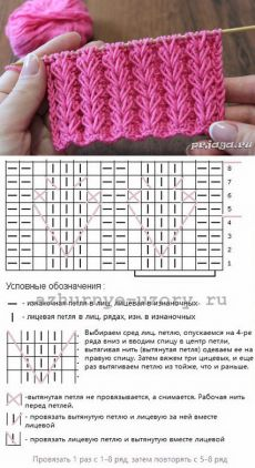 Strickmuster – вязание спицами – Knitting patterns, knitting designs, knitting for beginners. Lace Knitting Patterns, Knitting Stiches, Knitting Charts, Easy Knitting, Knitting Designs, Knitting Projects, Crochet Stitches, Stitch Patterns, Afghan Patterns