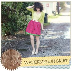 Delightfully Tacky: DIY // Watermelon Skirt