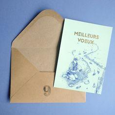 Une jolie carte de voeux illustrée pour souhaiter la bonne année ! Wish card drawing Drawing, Chart Design, Pretty Cards, Sketches, Drawings, Draw