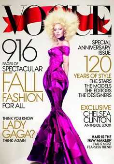 Lady Gaga VOGUE USA September 2012 -916 pages- fashion celebrity monthly