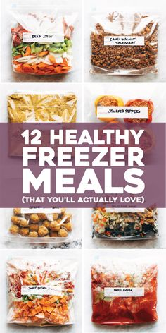 HEALTHY FREEZER MEALS all in one place! Not just a list of links - it has the FULL recipes for these super yummy, real food, seriously easy freezer meals all together on one easy-to-use page. #easyfreezermeals #freezermeals #healthyfreezermeals | pinchofyum.com