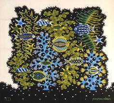 """Jean PICART LE DOUX (1902-1982) """"Buisson d'algues"""". Tapisserie d'Aubusson signature de l'artiste en bas à gauche et monogramme de l'atelier en bas à droite. Numérotée 1/6. Bolduc au verso Dim: 145 x 155cm… - Estim Nation - 13/12/2014"""
