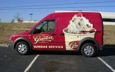 Graeter's Ice Cream Transit Connect vehicle wrap