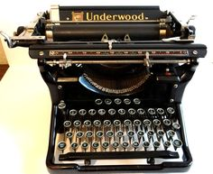Antique Rare 1930s Underwood Typewriter With Extra Set of Five Decimal Tabulator Keys and Original Dustcover by TimelessTreasuresbyM on Etsy
