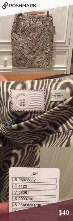 Anthropologie animal print skirt Anthropologie animal print skirt Anthropologie Skirts Pencil