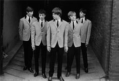 {Rolling Stones in London 2, 1963 by Phillip Townsend (alternative titles: we heart cigarettes. and bowl haircuts. -blogger comment :-))