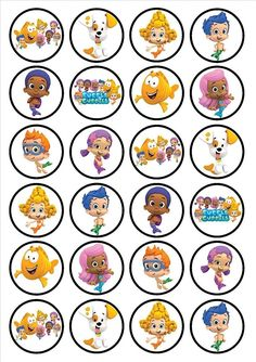 24 Bubble Guppies Edible Cupcake Toppers