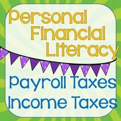 Personal Financial Literacy is brand new for the 2014-2015 school year. Don't let your students get behind. This product is a power point designed to introduce your students to income taxes the fun way! personal finance resources, personal finance tips #PF