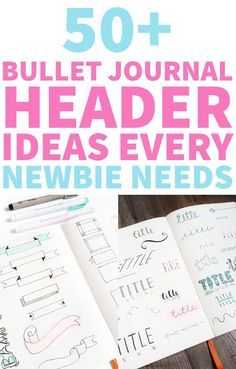 Lack of bullet journal header ideas? I got you covered. Here you can find some banners, titles, and dates design ideas to spruce up your BuJo #anjahome #bulletjournal #headers #banners