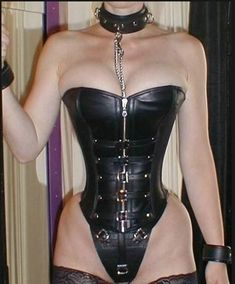 Sexy Leather Corset. Collar.