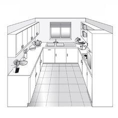 Plan de cuisine en U