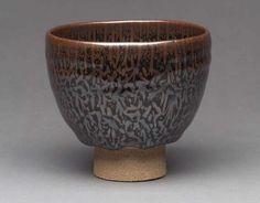 Tea bowl of the pine- tree tenmoku type. Chawan (Shoju tenmoku) Japanese Heisei era, late 20th–early 21st century