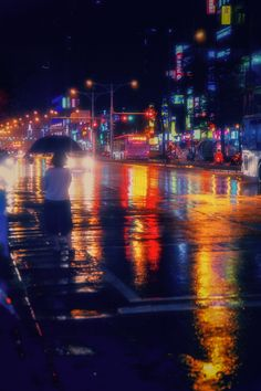 The colors of rainy reflections