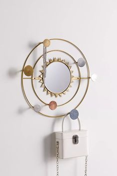 Cosmic Orbit Wall Mirror Multi-Hook | Urban Outfitters