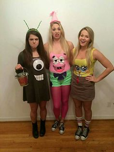 DIY Spongebob & Patrick Star costume